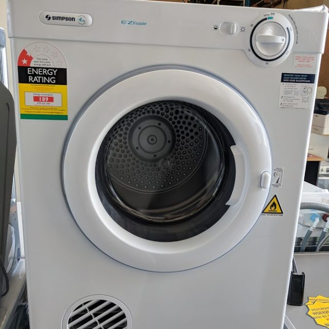 Simpson SDV401 Clothes Dryer. Doug Smith Spares Gold Coast Dec18