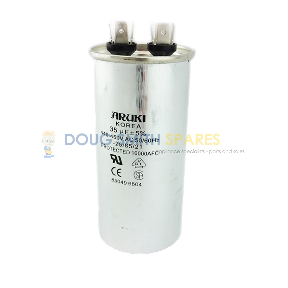 CAP035AC Universal Washing Machine Steel Motor Start 35uF Run Capacitor