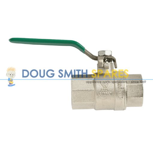 1210404 Bromic Gas Ball Valve Gas & Water Brass (FxF RC 1/2 SS Lever)