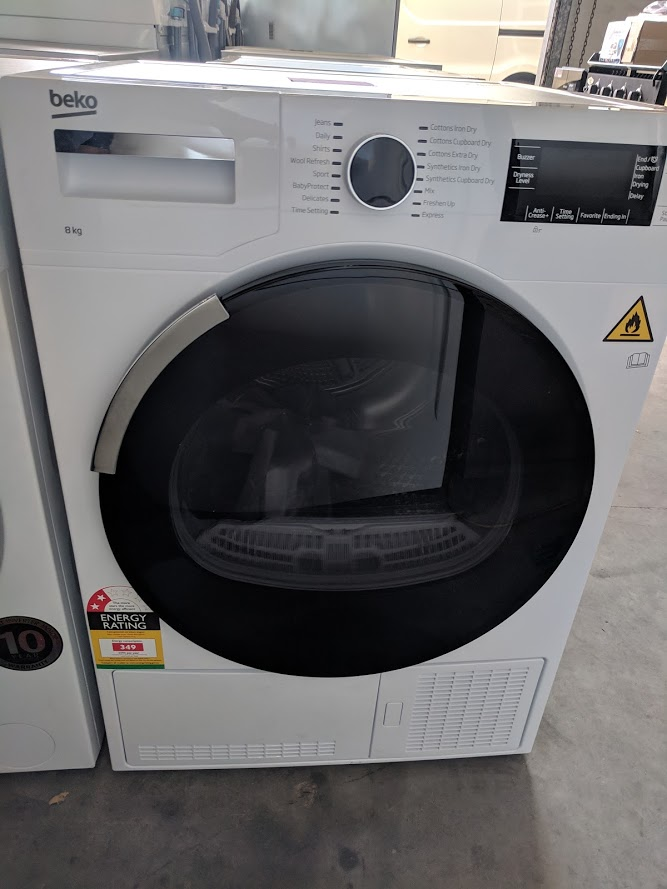 Beko BDC830W Condenser Dryer. Doug Smith Spares Gold Coast nov18