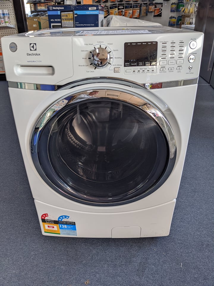 Electrolux EWF1408B1WA front loading washing machine. Doug Smith Spares granville dec19