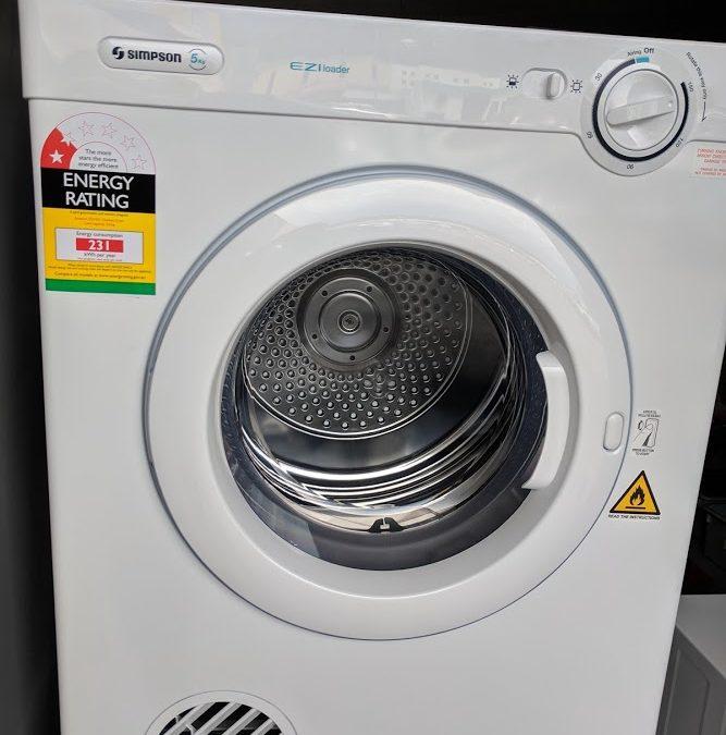 Simpson SDV501 Clothes Dryer. $298 Gold Coast