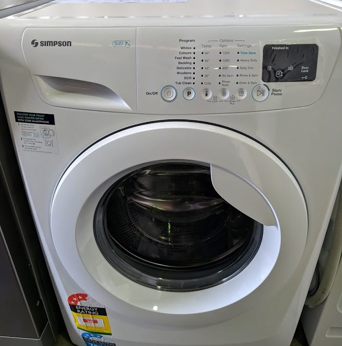 *** Sold *** Simpson SWF12743 Front Loading Washing Machine – $488 Gold Coast