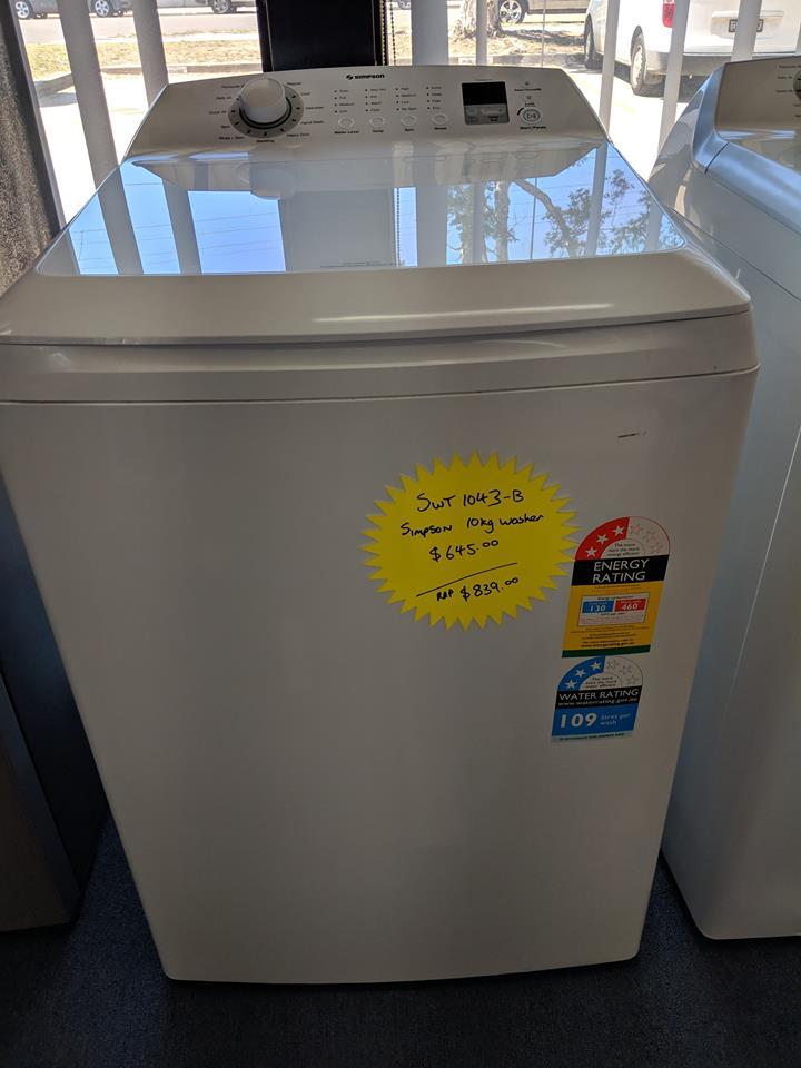 Simpson SWT1043 washing machine nov18 granville 2 Doug Smith Spares