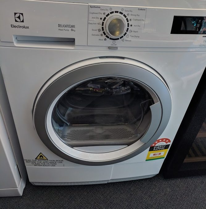 Electrolux EDH3586GDW Heat Pump Condenser Dryer. $948 Gold Coast