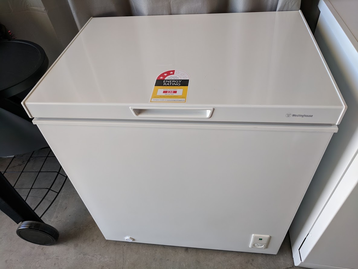 Westinghouse WCM1400WD Chest Freezer. Doug Smith Spares Gold Coast jan19