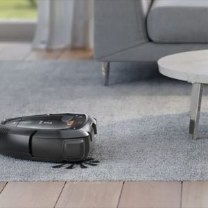 PI91-5SGM Electrolux PUREi9 Robot Vacuum Cleaner on a rug. Doug Smith Spares