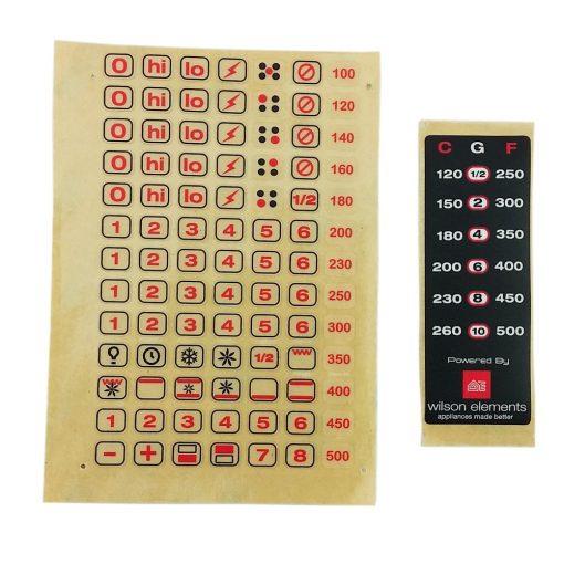 Wilson Universal Cooktop Appliance Knobs Sticker Decal Kit