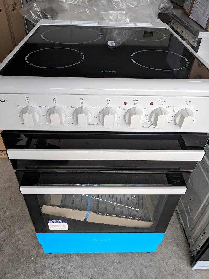 Chef CFE547WB Upright Stove. Doug Smith Spares Gold Coast Mar19