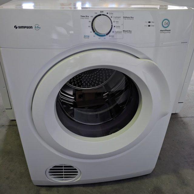Simpson SDV556HQWA clothes dryer. Doug Smtih Spares Gold Coast jun19