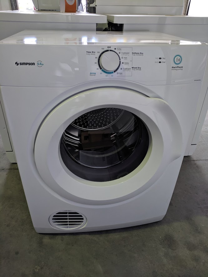 Simpson SDV556HQWA clothes dryer. Doug Smtih Spares Gold Coast jun19