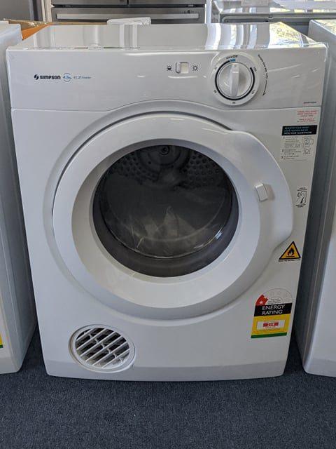 Simpson SDV457HQWA Clothes Dryer. Doug Smith Spares Granville Nov19