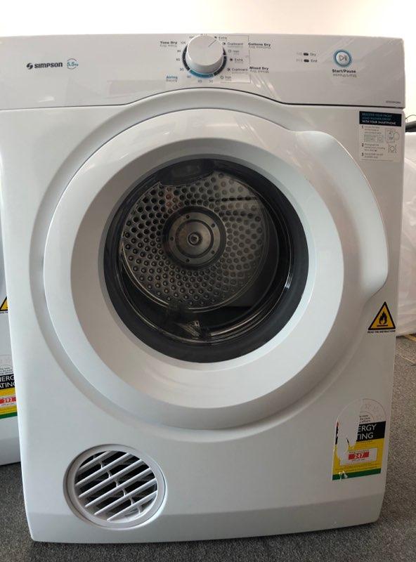 Simpson SDV556HQWA Clothes Dryer. Doug Smith Spares Pymble Nov19