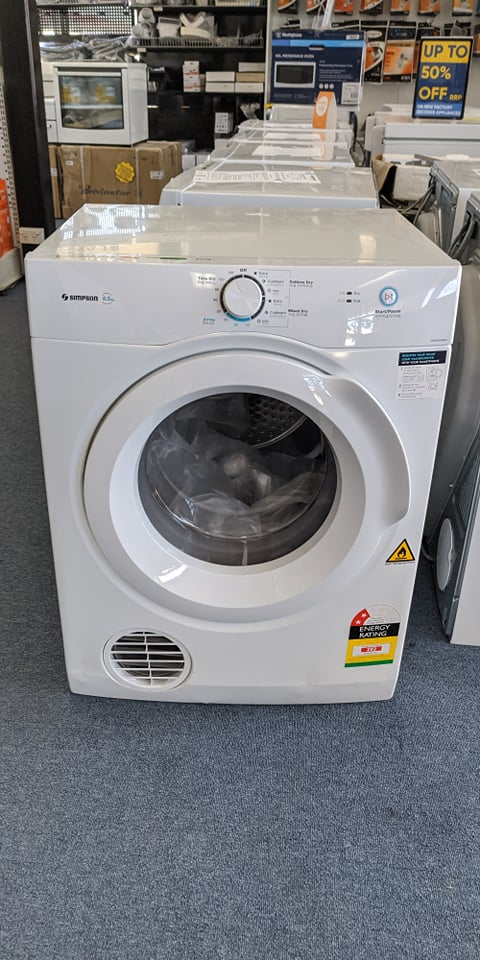 Simpson SDV656HQWA Clothes Dryer. Doug Smith Spares Granville Nov19